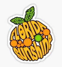 Florida Orange - Sunshine State Emblem Lettering in Shape of Orange Sticker