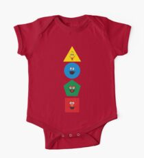 Sesame Street Primary Colors Basic Shapes One Piece - Short Sleeve
