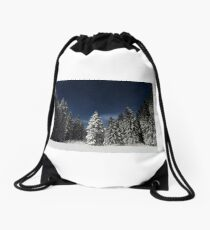 Winter Snowy Forest Nature Fine Art Photography 0017 Drawstring Bag
