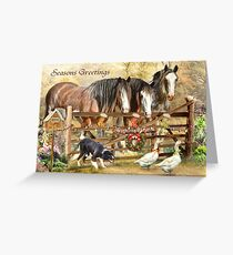 Christmas At Featherwell Farm Greeting Card