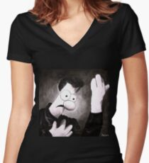 Meemees (Heroes) Women's Fitted V-Neck T-Shirt