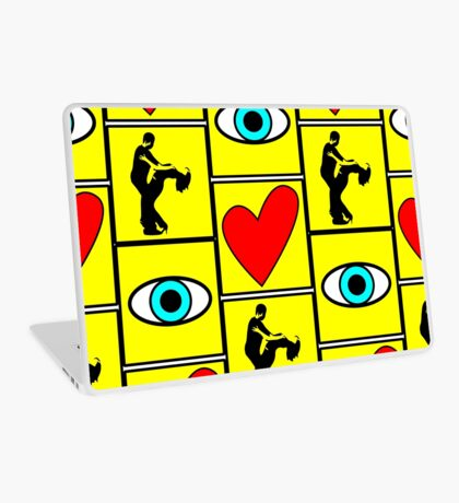i love dance - pictogram Laptop Skin