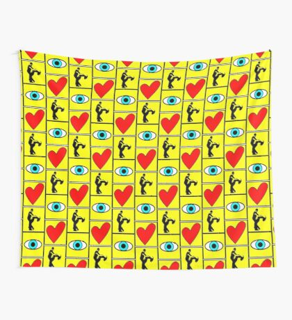 i love dance - pictogram Wall Tapestry