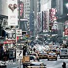 Time Square NY-City by Jean M. Laffitau