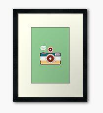 say hello to camera Framed Print