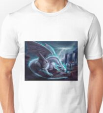 White Lightning Dragon Unisex T-Shirt