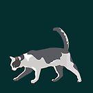 Slinky Grey Cat by Anne van Alkemade