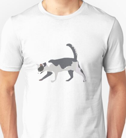 Slinky Grey Cat T-Shirt