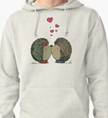 Hedgehogs in love Pullover Hoodie