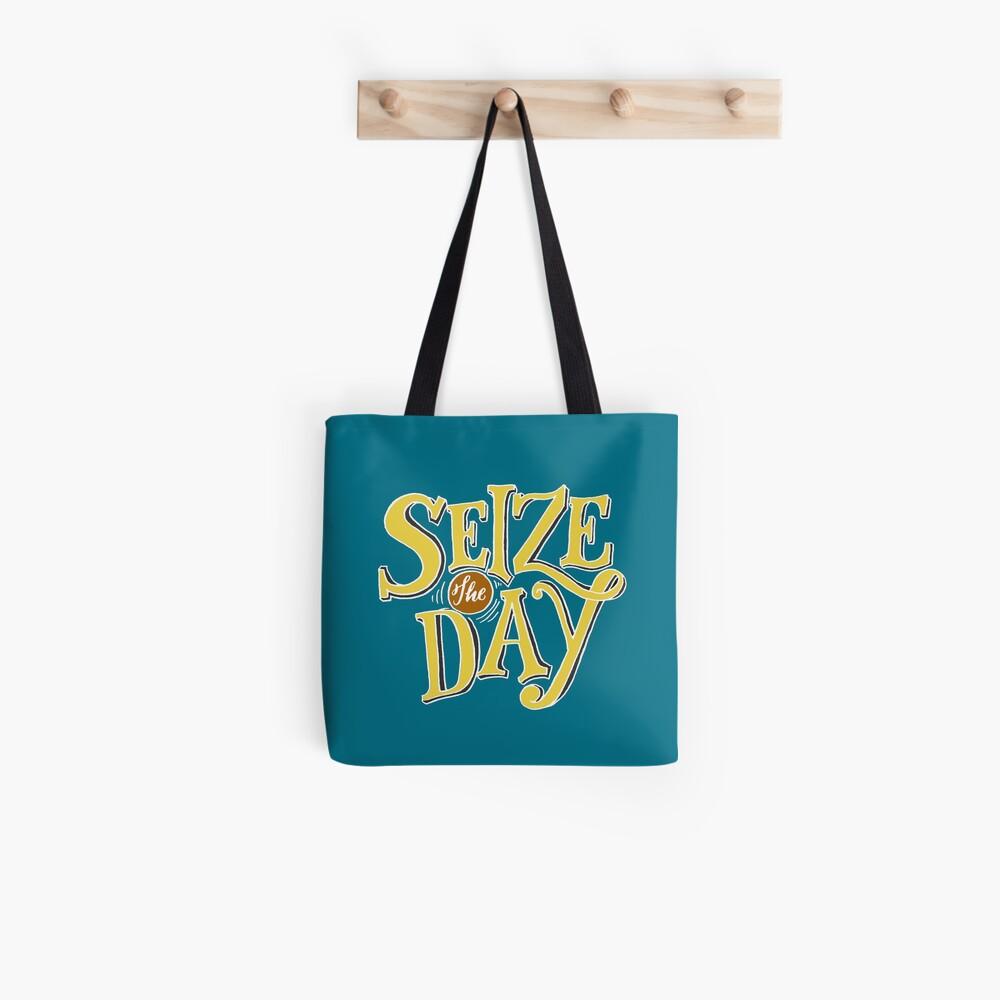 Aprovecha el día - Texto amarillo Bolsa de tela