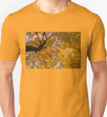 Golden Canopy - Twisted Tree Trunk Horizontal T-Shirt