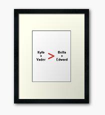 Kylo + Vader Framed Print