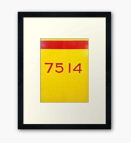 7514 Framed Print
