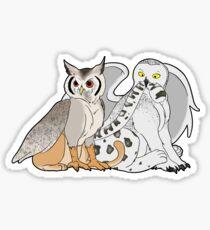 Owl Griffons Sticker