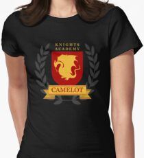 Camelot Knights Academy Print Women's Fitted T-Shirt