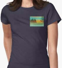 Serenity Prayer Colorful Trees Women's Fitted T-Shirt