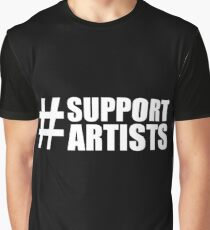 #SUPPORTARTISTS on  dark background - by m a longbottom - PLATFORM58 Graphic T-Shirt