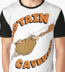 Captain Caveman White Graphic T-Shirt