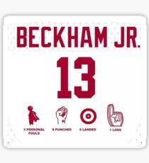 Odell Beckham Funny Stats Sticker