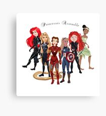 Princesses Assemble  Canvas Print