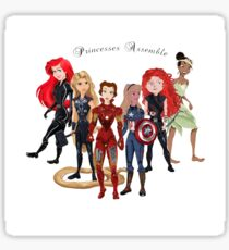 Princesses Assemble  Sticker