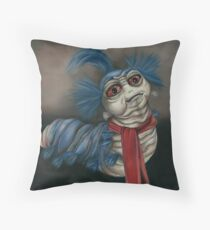 Labyrinth Worm - Oil Painting  Throw Pillow