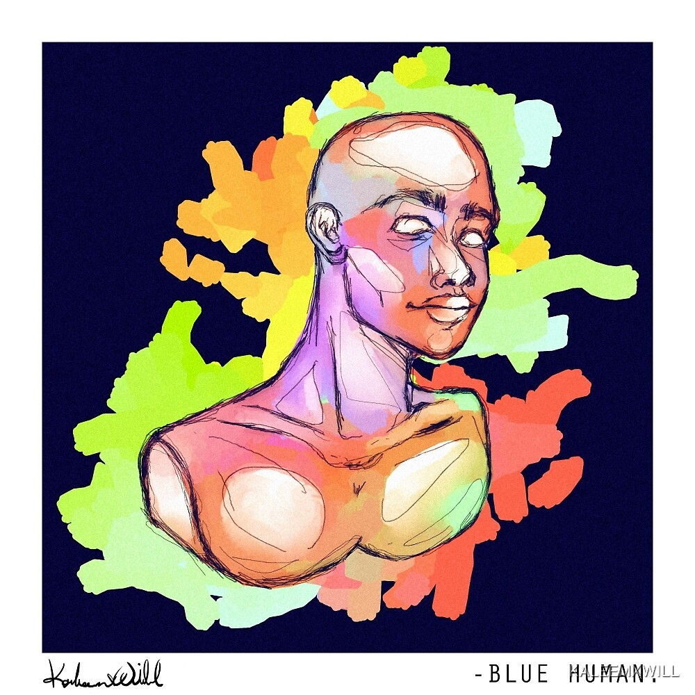 Blue Human by KALEEMXWILL