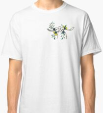 Phil 4:13 Floral Comedy/Tragedy Masks Classic T-Shirt