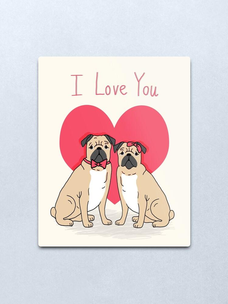Dog Studio Greeting Card -DS-C-LV-1193-107 LOVE//ALL SIZES Pug /& Bull Mastiff