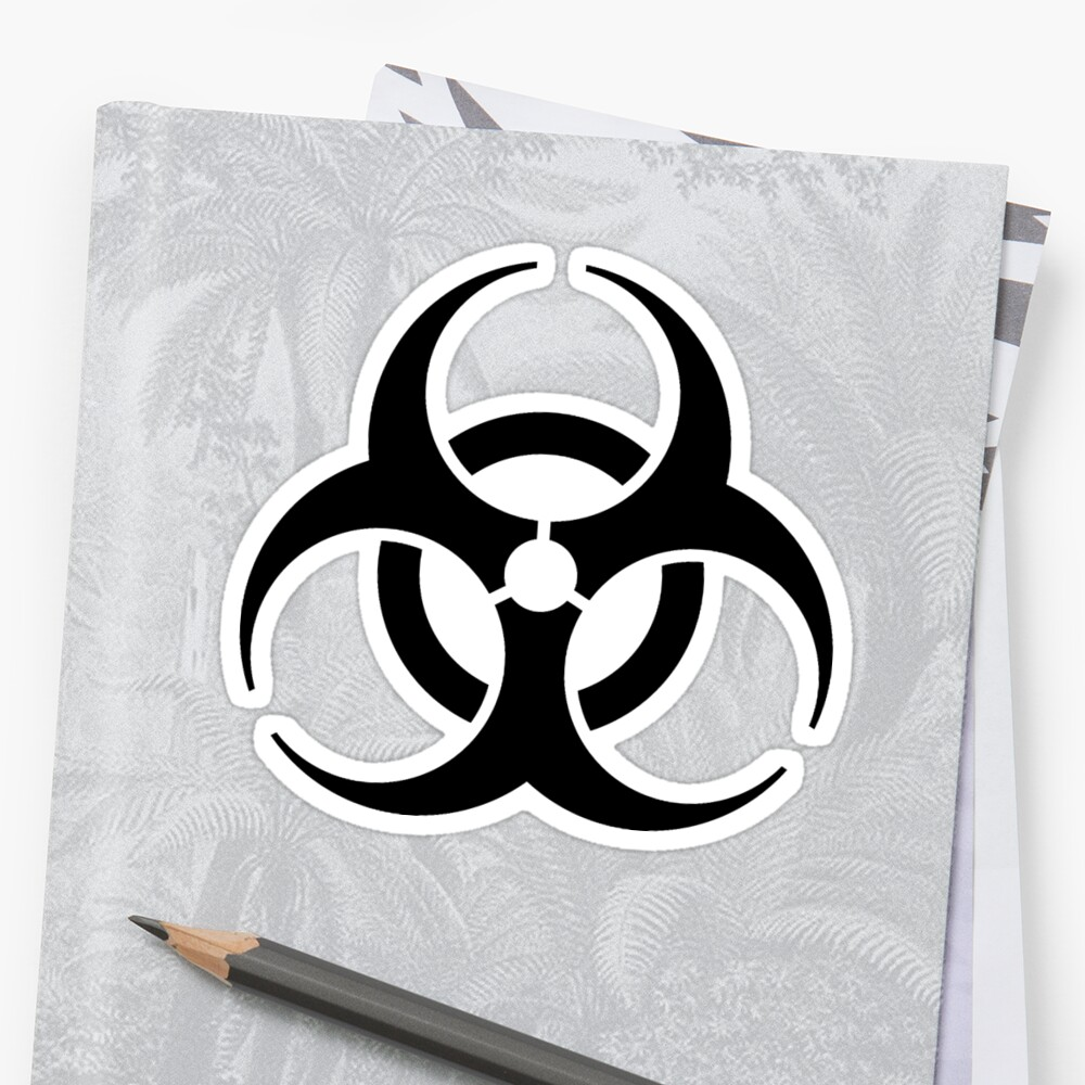 Bio Hazard Symbol Biological Hazard Danger Warning In Black
