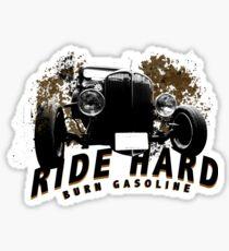 HotRod burn gasoline Sticker