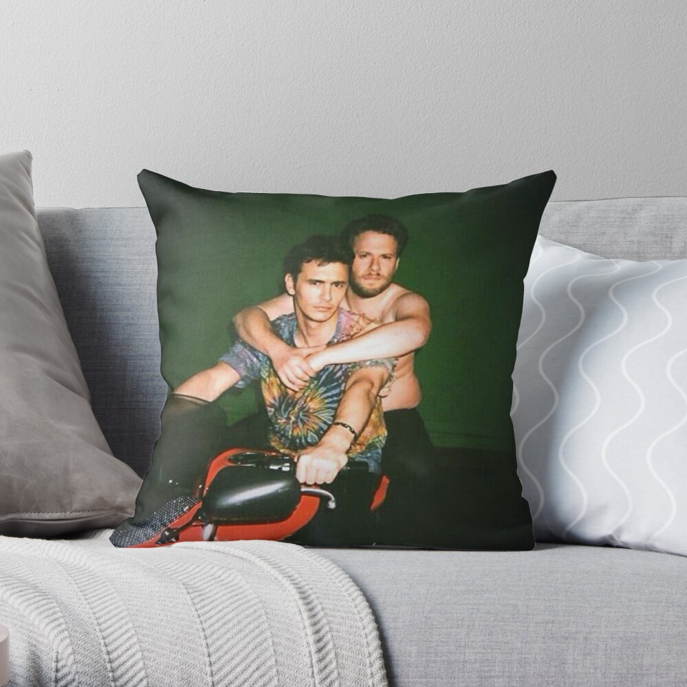 Seth Rogen and James Franco Throw Pillow