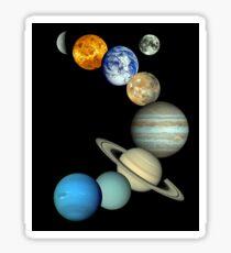 Solar System Montage Sticker
