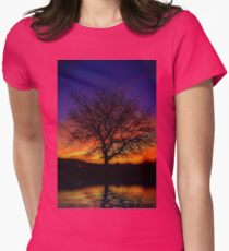 Water, Earth, Sky Womens Fitted T-Shirt