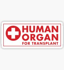 Human Organ for Transplant Sticker