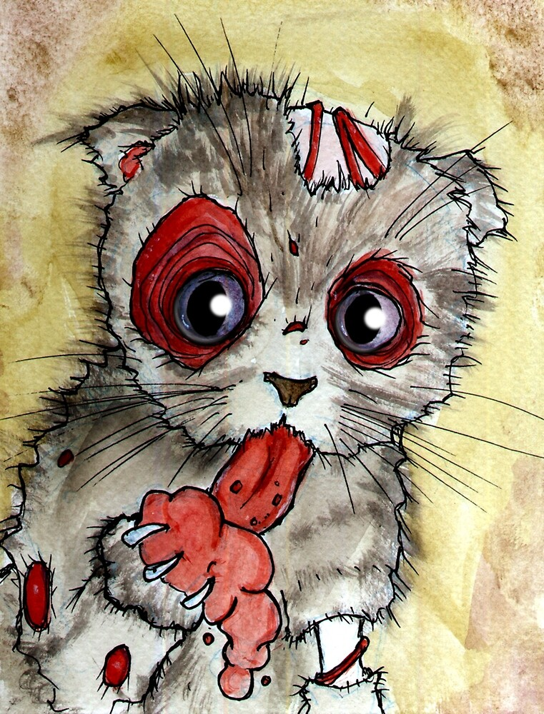 LOL zombie cat by byronrempel