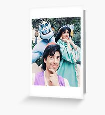 Aladdin Totem Pole Greeting Card