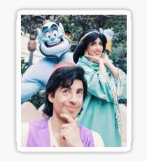Aladdin Totem Pole Sticker