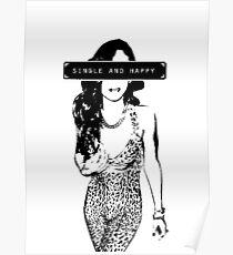 Rihanna 16bit Single and happy Poster