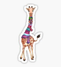 Cold Outside - Cute Giraffe Illustration Sticker