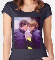 Matt Smith and Karen Gillan Women's Fitted Scoop T-Shirt