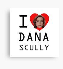 I Heart Dana Scully Canvas Print