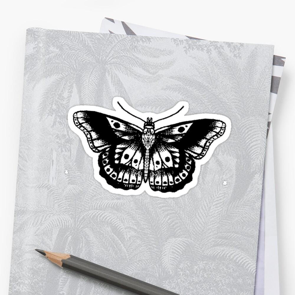 Harrys Butterfly Tattoo Sticker by Celia And Paige .