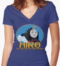 Hiro - The Master of the Railway Women's Fitted V-Neck T-Shirt