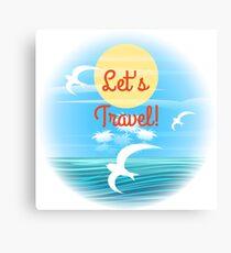 Travel theme Canvas Print