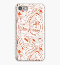 Seamless hand drawing pattern of city iPhone Case/Skin