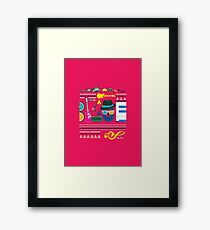 i love blues music Framed Print
