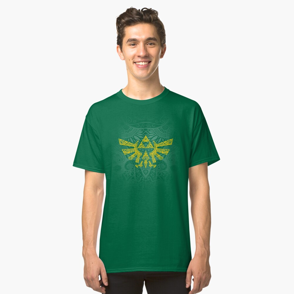 Emblema Hyrule Amarillo Camiseta clásica