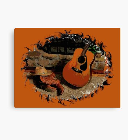 """""""Leather, Wood, Strings, and Straw 2nd Edition"""" ... prints and products Canvas Print"""