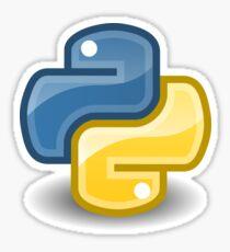 Python logo Sticker